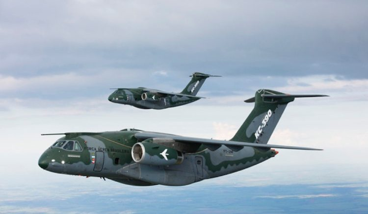 Two Embraer KC-390 aircraft