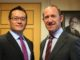NZ Labour Party MPs Raymond Huo and Andrew Little