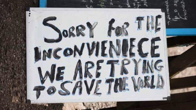 Covid-era protest