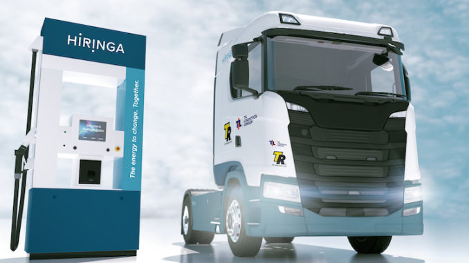 Fuel cell electric vehicle truck and station