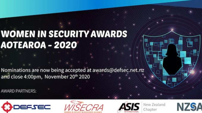 Women in Security Awards Aotearoa